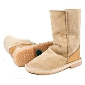 InStep Full Suede Short Sheepskin Boots