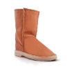 InStep Leather Front Sheepskin Boots Caramel