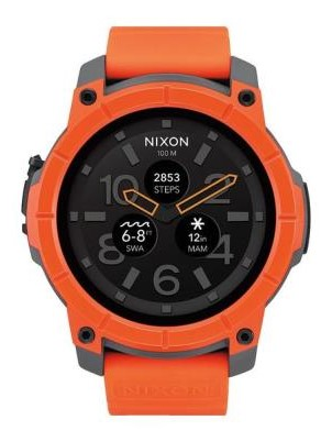 Nixon Mission Orange Grey Black Sports Watch
