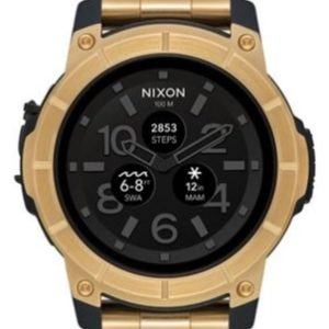 Nixon Mission Stainless Steel Gold Sports Watch