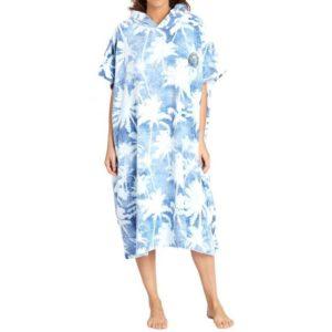 BILLABONG HOODED TOWEL BLUE PALMS